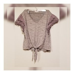 Womens Maurices Gray short sleeve top